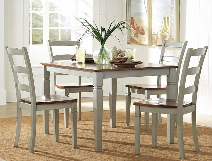 DIY: Gray Dining Room Sets Or Buy: Clearwater 5 Piece Rectangular Dining  Room Set In Weathered Grey