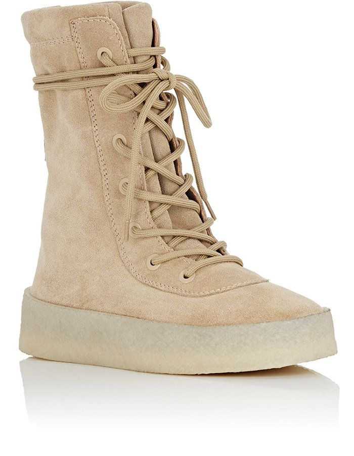 """Yeezy Crepe Sole Boots in Taupe"