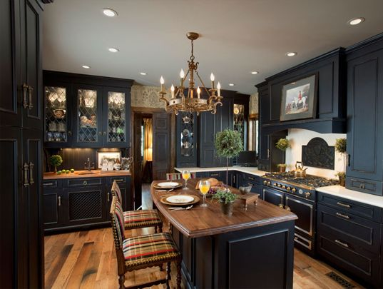 A Warm, Black Kitchen. Kitchen Designs By Ken Kelly Wood Mode Kitchens Long  Island Nassau Suffolk Queens