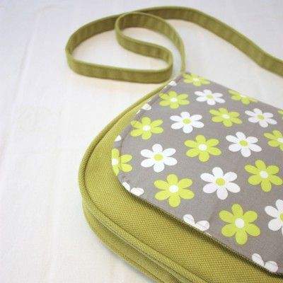 Practical bag with interesting pattern flap.