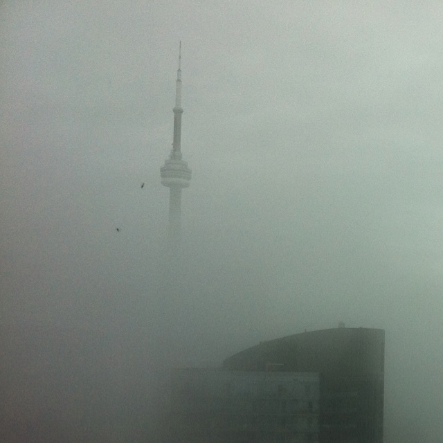 Toronto in the morning mist. May 2012