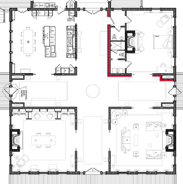 Greek revival old southern plantation house floor plans for Plantation floor plan