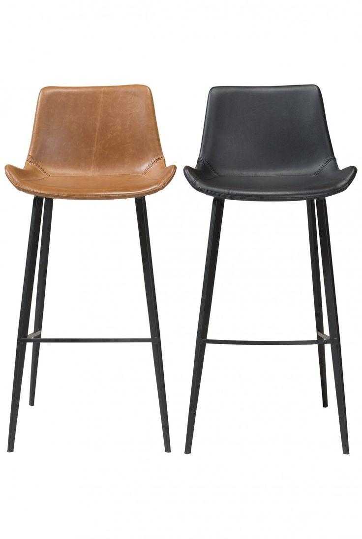 Barhocker Hype in zwei Farben, braun und schwarz