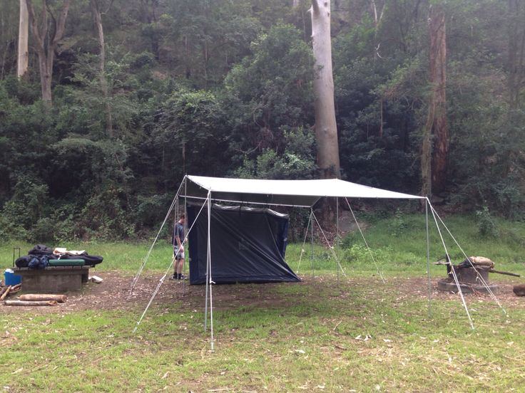#CampKingsAustralia Tar- Pole-In Range of tarp covers for the campsite #CAMPA-KIT during set up. So easy to setup and pack down. John had this setup in 25 minutes - available to buy from www.campkings.com.au