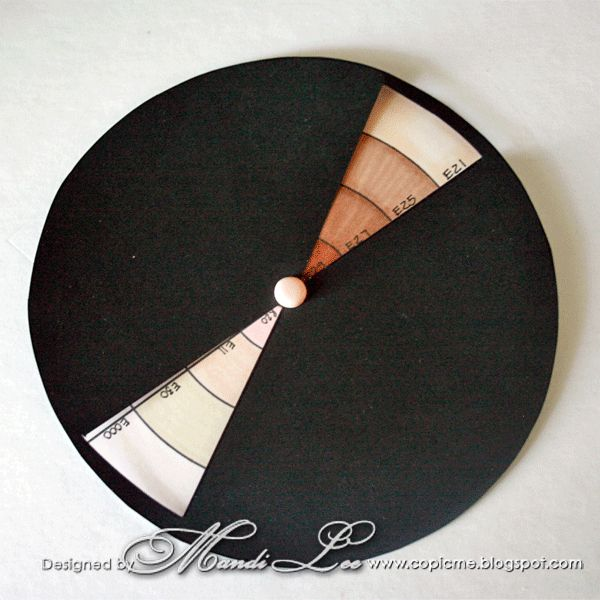 How to make A Copic hair and skin colour wheel.