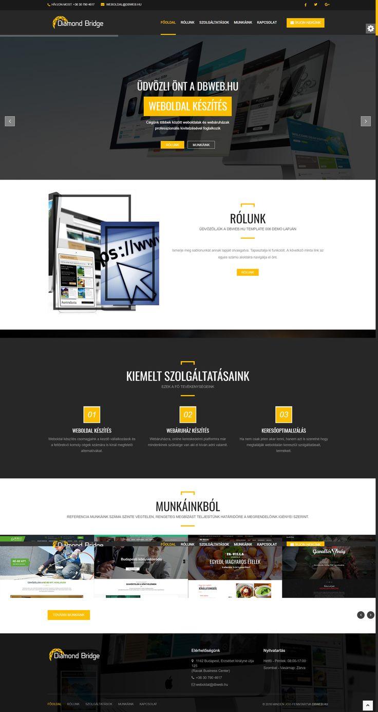 Egyedi fejlesztésű weboldaldesign: http://dbweb.hu/design/006/