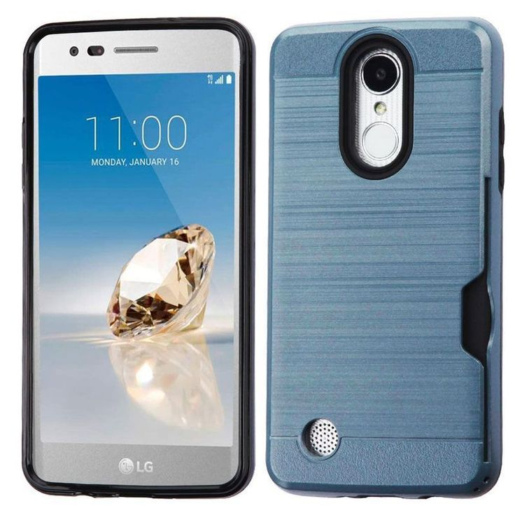 Insten Greyish Blue/ Hard Snap-on Dual Layer Hybrid Case For LG Aristo/ Fortune/ K4