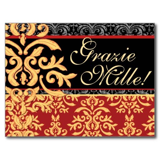 ==>Discount          	Grazie Mille Gilded Damask Italian Thank You Cards Postcards           	Grazie Mille Gilded Damask Italian Thank You Cards Postcards online after you search a lot for where to buyDiscount Deals          	Grazie Mille Gilded Damask Italian Thank You Cards Postcards Online ...Cleck Hot Deals >>> http://www.zazzle.com/grazie_mille_gilded_damask_italian_thank_you_cards_postcard-239245765480392296?rf=238627982471231924&zbar=1&tc=terrest