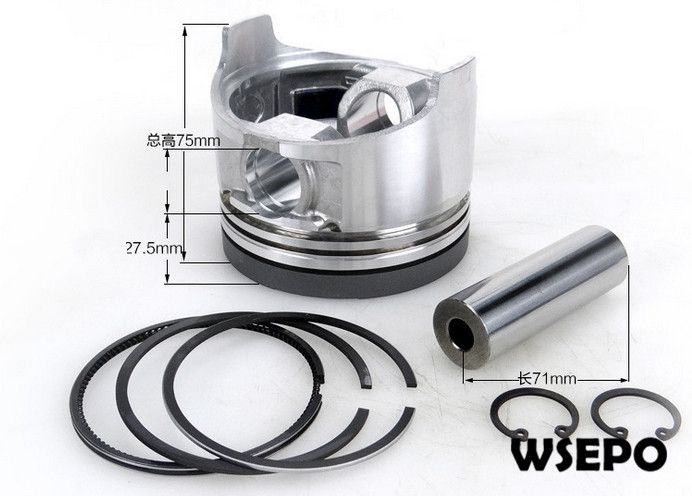 Chongqing Quality Piston Rings Pin Circlip 04 Pc Kit For 192fa 12hp Air Cooled 4 Stroke Diesel Engine 7 5kw 8kw Gene Generator Parts Piston Ring Diesel Engine