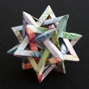 Modular Origami Made From Foreign Currency