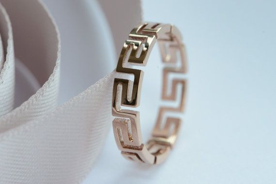 Rose gold ring rose gold ring gold pattern ring by vanTeeveJewelry | would be nice with diamonds