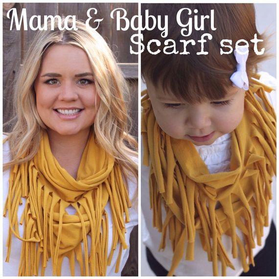 Scarves Jersey Cotton Rich Girl Rags Co Girl Boho Hippie Mother Mother Mother Mother Daughter Matching Scarf