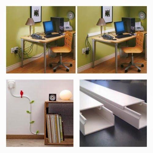 Consigli per la casa e l' arredamento: Idee per nascondere prese, fili e cavi elettrici: uso di canaline di plastica
