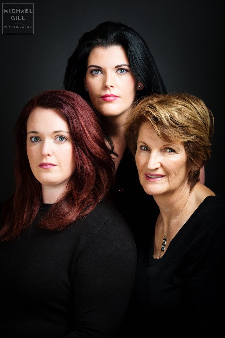 Mother and Daughters Pose