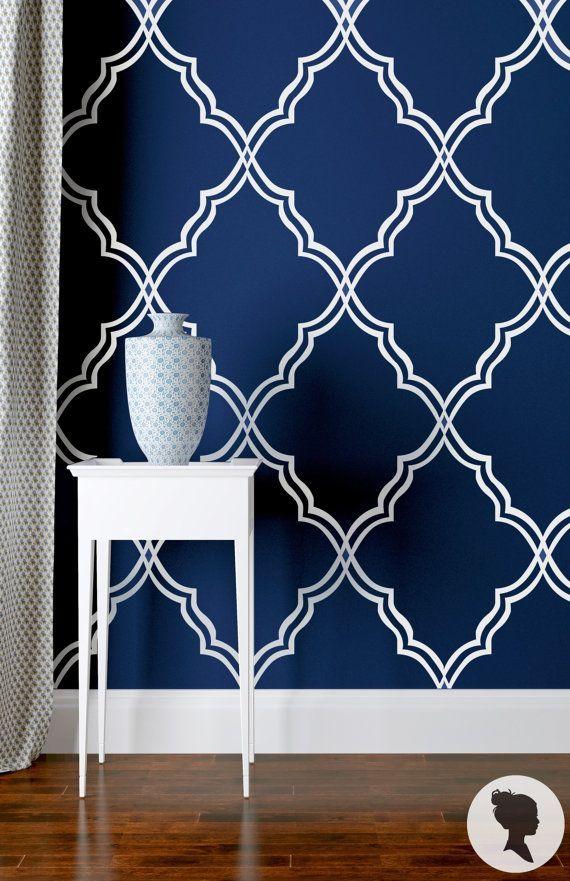 Watercolor Blueberries Removable Wallpaper Royal Blue Self Etsy Dekorasyon Fikirleri Dekor Renkler