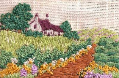 The White House  Mini Embroidery Kit - Rowandean Embroidery