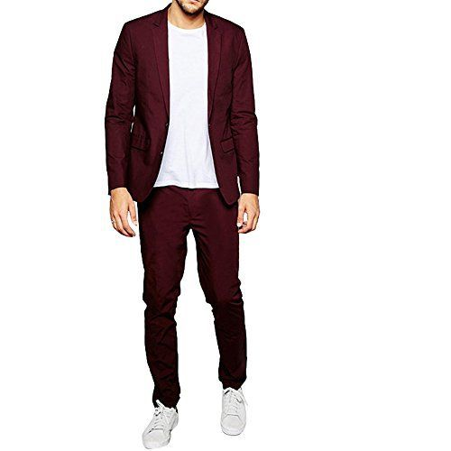 Products Key Features HBDesign designs Men's Suits for more exquisite life. Please check our Size Chart before choosing our products to fit your figure well. Absolutely alterations is required for your Pants to fit perfect, please contact your local tailor's shop for help. We also...  More details at https://jackets-lovers.bestselleroutlets.com/mens-jackets-coats/suits-sport-coats/suits/product-review-for-hbdesign-mens-2-piece-2-button-peak-lapel-casual-claret-red