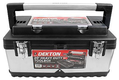 Dekton 20 http://www.ebay.co.uk/itm/Dekton-20-Stainless-Steel-Tool-Box-Chest-Bagwith-Handle-Removable-Tray-/222099958844 #toolboxesstorage