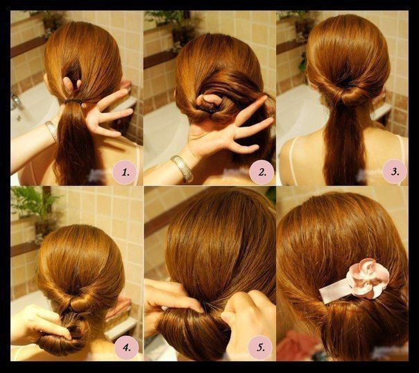 Easy low bun | Hairstyles Step by Step | Pinterest | Buns, Easy low bun and Low buns