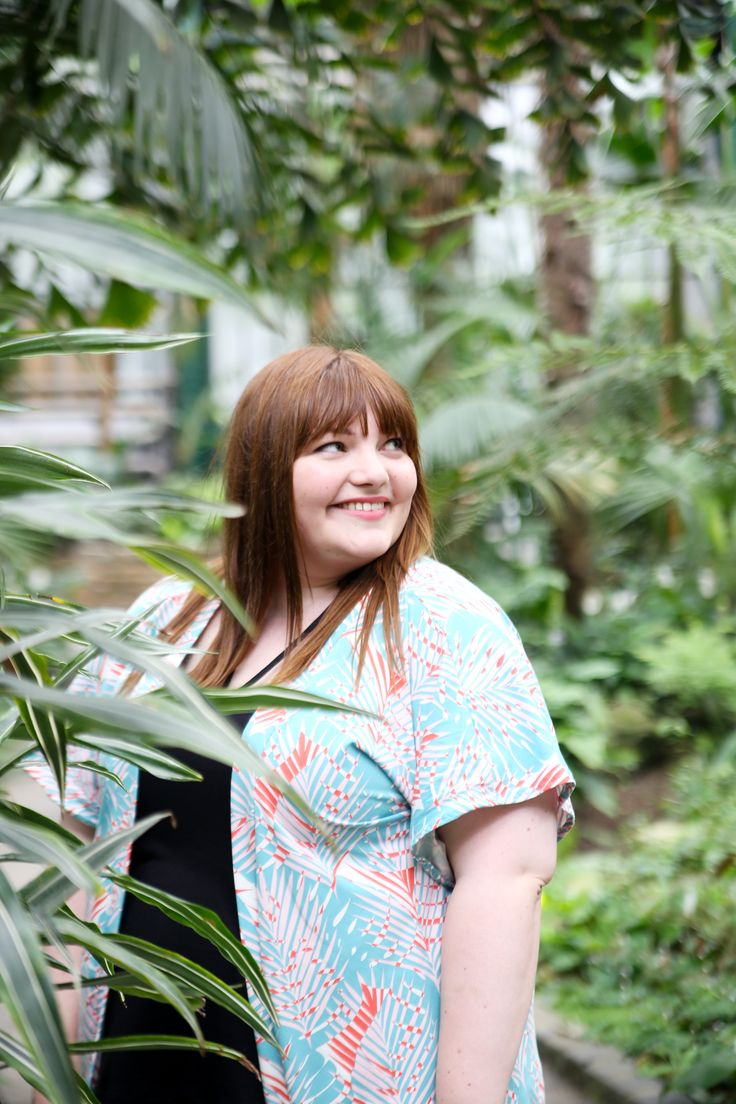 #naehdirwas Urban Jungle Lovers // Plus Size summer look: DIY kimono, cage top & shorts