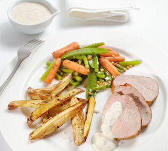 Kalfsfricandeau met groenten en frietjes - Recept - Jumbo Supermarkten
