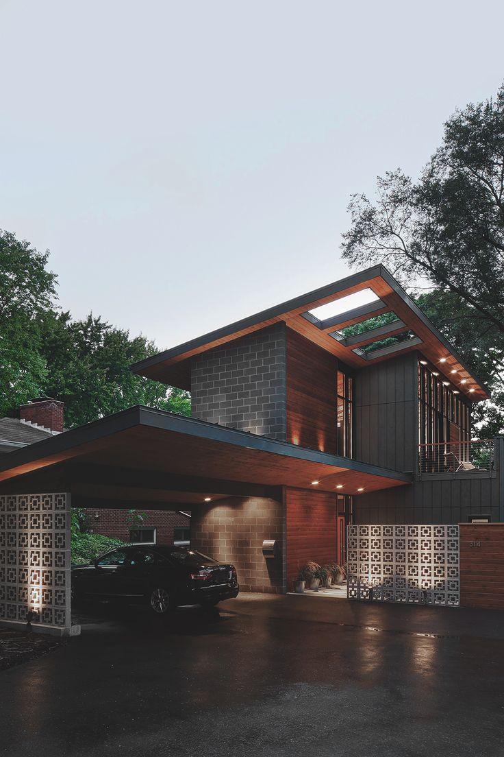 Mejores 23 im genes de casas modernas con techo inclinado for Casa moderna tunisie