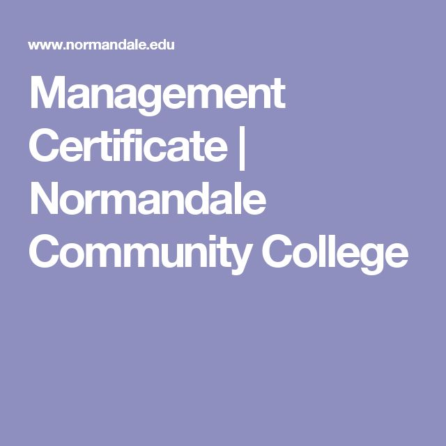 Management Certificate | Normandale Community College