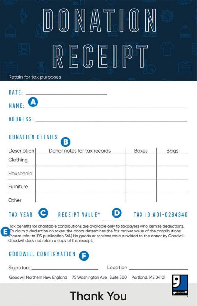 Goodwill Donation Spreadsheet Luxury Values Tax Re Golagoon Receipt Template Digital Marketing Plan Template Newsletter Design Templates