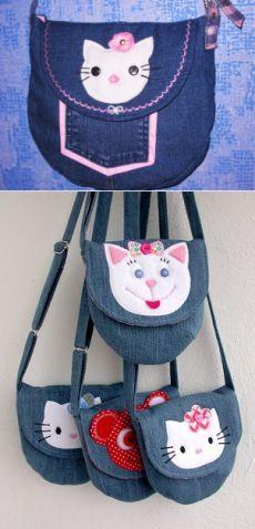 Джинсовая сумка для девочки 5 лет.