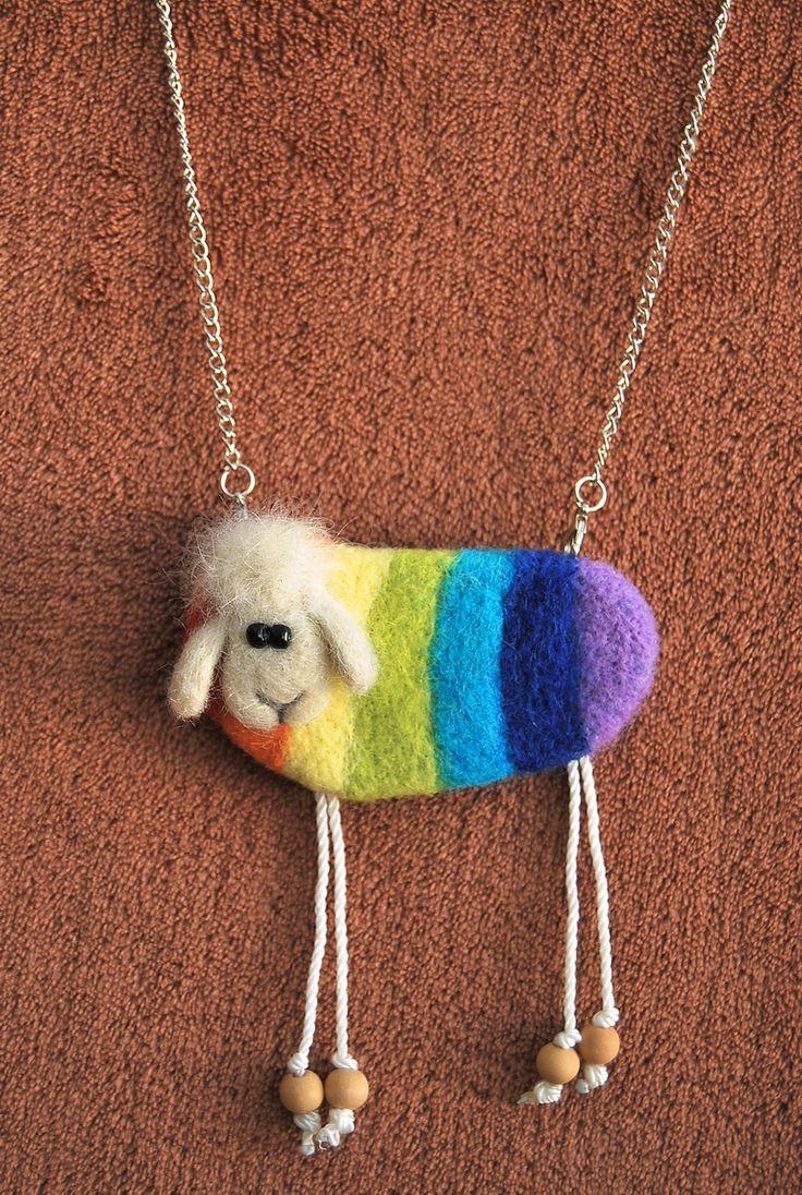 Rainbow sheep. Oxana Duboshina.  http://www.livemaster.ru/duboshina