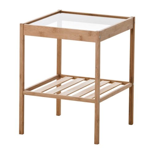NESNA Nightstand IKEA Bamboo, a hardwearing natural material. $15 each (Mike likes them)