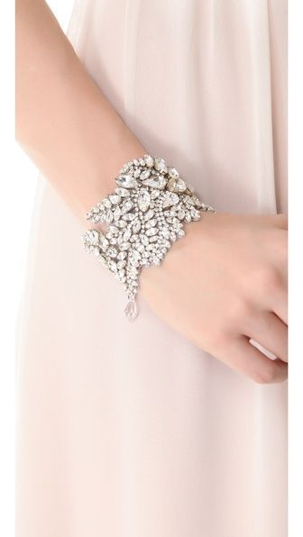 Jenny Packham Stellina Bracelet. What a gorgeous, elegant styled bracelet for the big day. I really love this classy silver jeweled fern styled cuff.