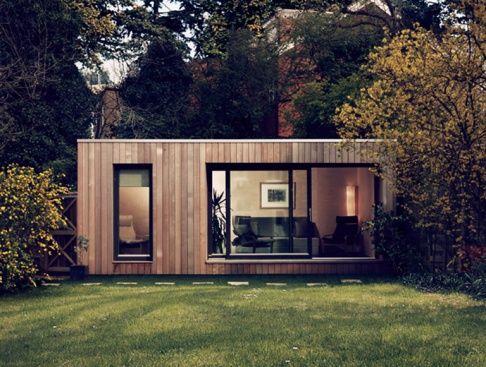 """Das Gartenhaus als Modulhaus: """"Ecospace"""" wird per LKW geliefert und lässt sich zum Wohnhaus erweitern"""