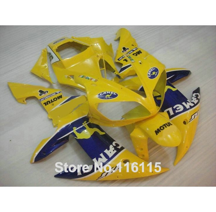 342.00$  Buy here  - High quality ABS Fairing kit for YAMAHA R1 2002 2003 yellow blue CAMEL fairings set Injection molding YZF R1 02 03 YZ35