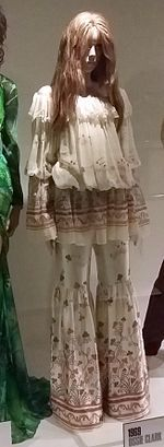 Ossie Clark 'Botticelli' trouser suit Dress of the Year 1969