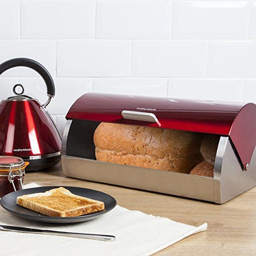 Morphy Richards Accents Roll Top Bread Bin - Red: Amazon.co.uk: Kitchen & Home