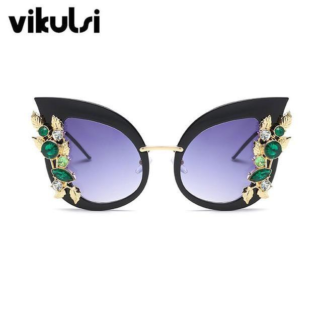 Vintage Flower Party Women Sunglasses Brand Designer Sun Glasses Female Fashion 2017 New Eyewear Gradient High quality Baroque