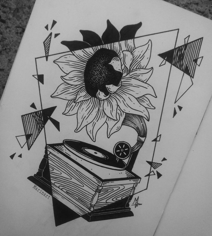 I saw that gramophone idea somewhere and I decided to use it in my drawing so… here it is, hope you like it!