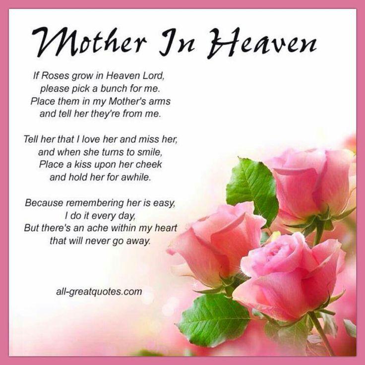 Birthday Happy Heaven My Mom Quotes