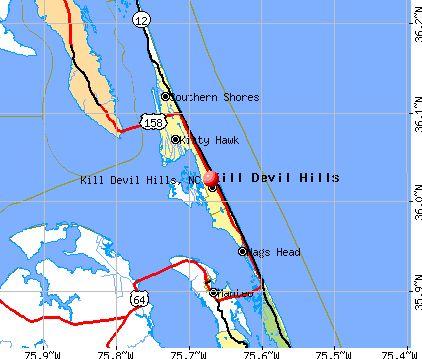 kill devil hills nc | Kill Devil Hills, North Carolina (NC 27948) profile: population, maps ...