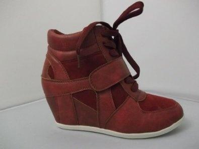 Sko Ladies Matt Hidden Wedge Celebrity Sneaker Wedge Trainer Boots (AB12021),£31.99