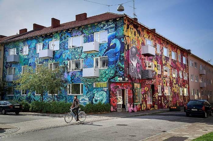 Grafitti house in Seved Malmö Sweden