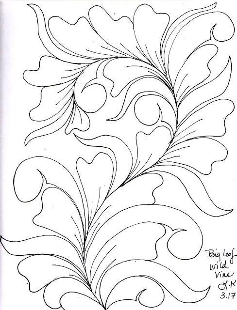 LuAnn Kessi: Quilting Sketches.......Wild Vines