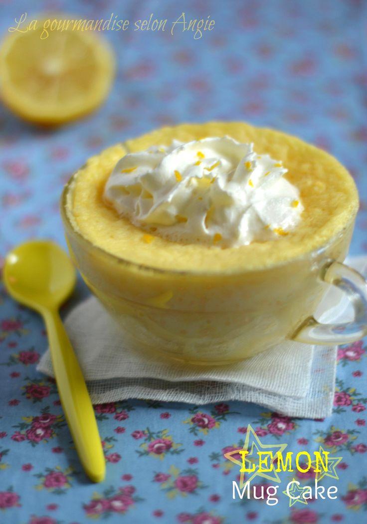 mug cake au citron Très léger !  Attention : quantités pour 1 grand mug ; en prévoir 2 s'ils sont de taille normale