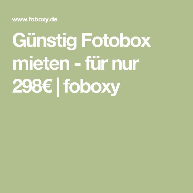 Günstig Fotobox mieten - für nur 298€ | foboxy