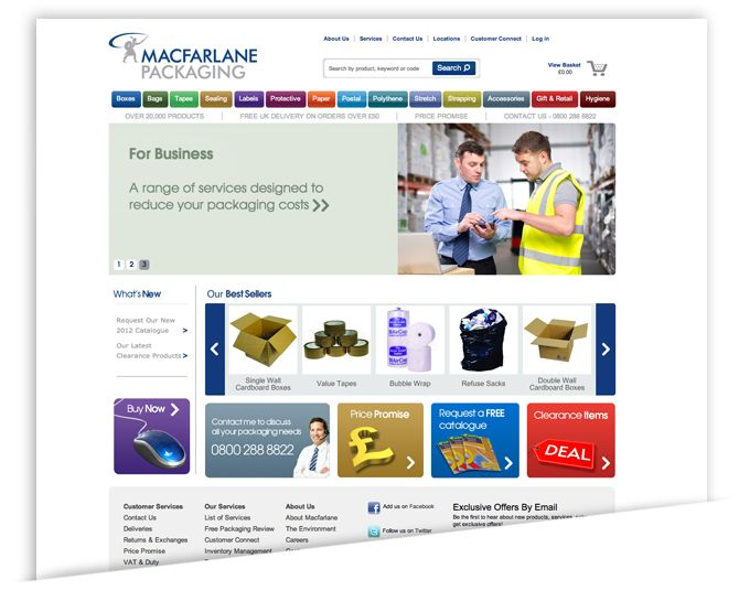 Packaging Giant Roars into the Information Age with Magento:  Internet Site,  Website, Web Site