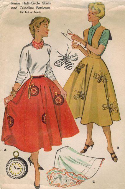 Circle Skirt Novelty 3 Mccalls PatternsVintage