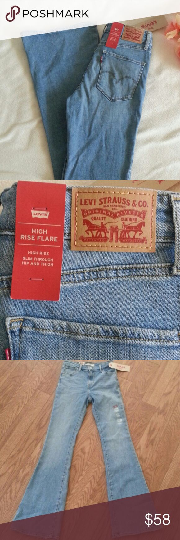 SALE NWT Levi's High Rise Flare Jeans Brand new with tag I have 26 x 32, 27x 32, 29 x 32 All brand new Retail $59.50 Levi's Jeans Flare & Wide Leg