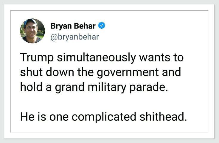 He's a fucking idiot.