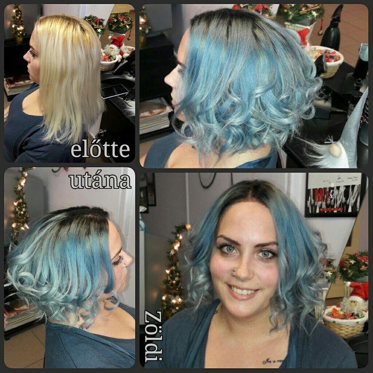 #zöldiszilvia #mywork #munkám #haircut #hajvágás #hairstyle #hajfestés #haircolor #grannyhair